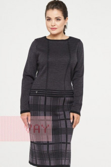 Платье женское 182-2322 Фемина (Черный/графит)