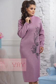 Платье женское 2293 Фемина (Камелия/антрацит)