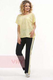 Брюки женские 3406 Фемина (Черный/желтый)