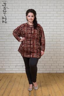 """Блуза """"Её-стиль"""" 1091 ЕЁ-стиль (Терракот)"""
